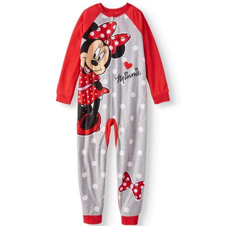 Minnie Mouse Girls' Onesie Pajama Sleeper - Girls Panda Onesie
