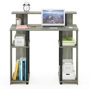 Furinno JAYA Simple Design Computer Writing Desk, French Oak Grey/Black