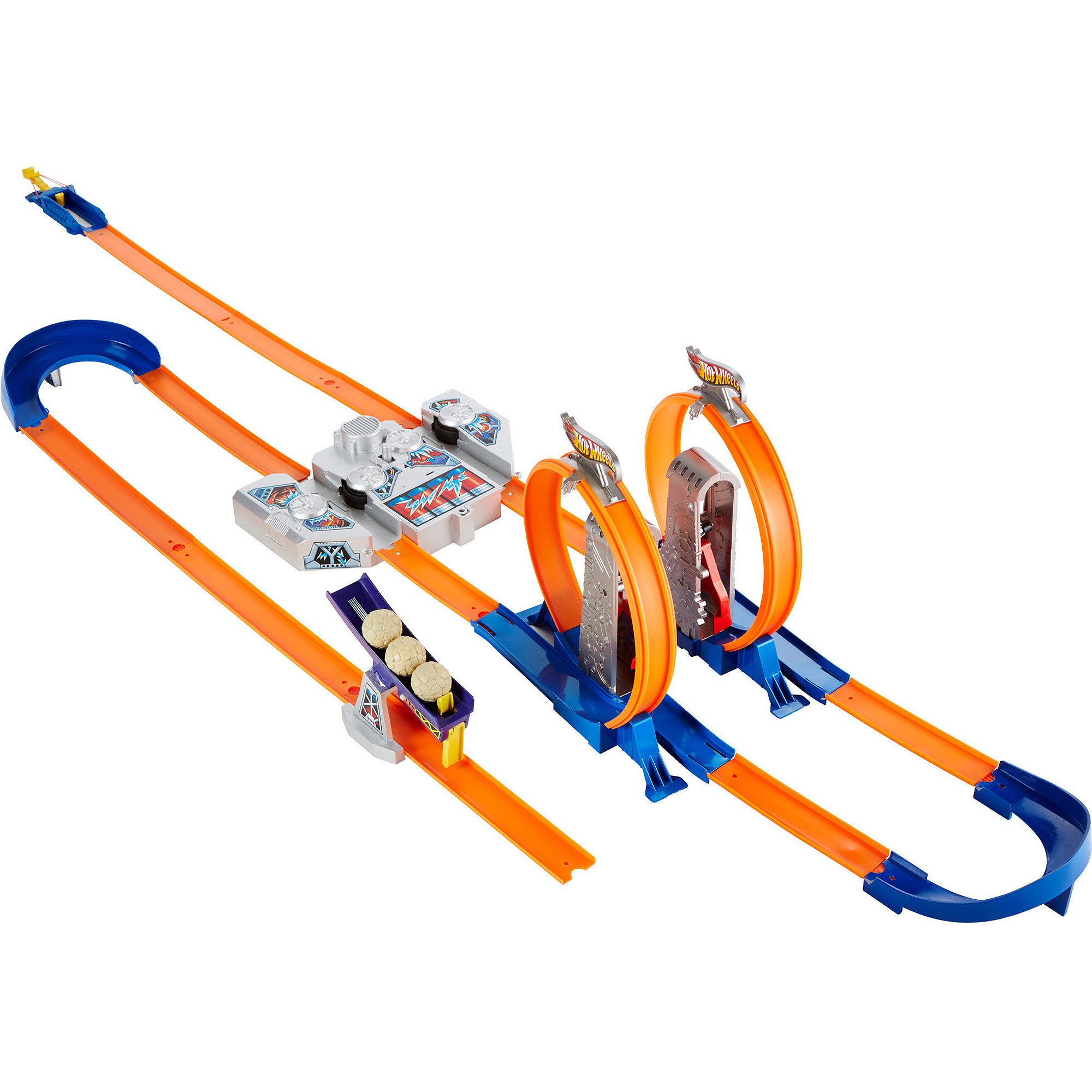 mattel hot wheels hw double boost trackset walmartcom