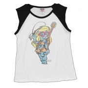 The Smurfs Smurfette Vintage Style Junk Food Jrs Relaxed Sleeveless T-Shirt