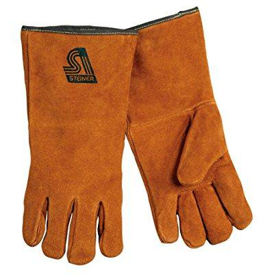 Steiner 2119C Premium Side Split Cowhide Stick Welding Gloves Cotton Lined Medium