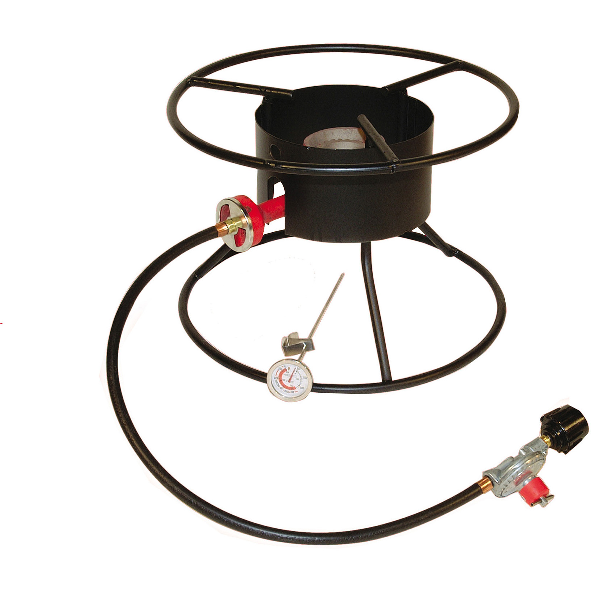"King Kooker Portable Propane Outdoor Cooker with 17"" Top Ring"