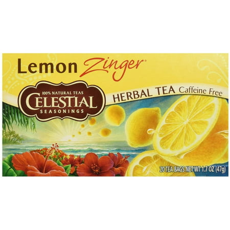 2 Pack - Celestial Seasonings Lemon Zinger Caffeine Free Natural Herb Tea 20