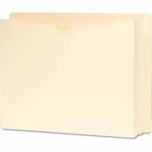 """Smead End Tab File Jackets with 2"""" Accordion Expansion, Manila, 25ct"""