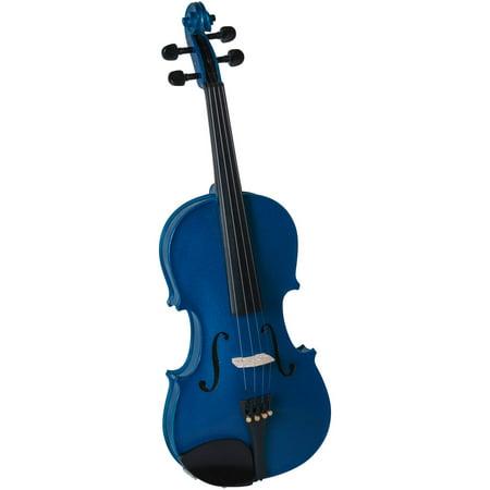 Cremona SV-75 Premier Novice Violin Outfit, Sparkling Blue, 4/4 - Villain Outfit