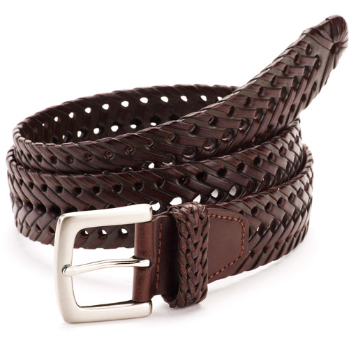 faded s braided leather belt walmart