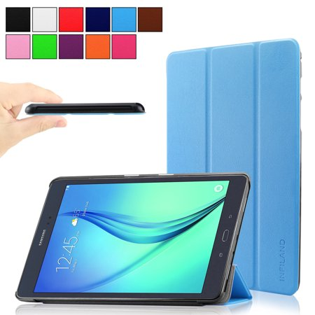 Infiland Slim Smart Case Cover With Translucent Frosted Back Protector  With Auto Wake Sleep  For All New Fire Hd 8 Tablet  6Th Gen  2016 Release Only   Blue