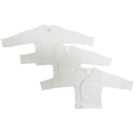 Long Sleeve Preemie Shirt (Preemie Long Sleeve Side Snap With Mitten - 3 Packcuff )