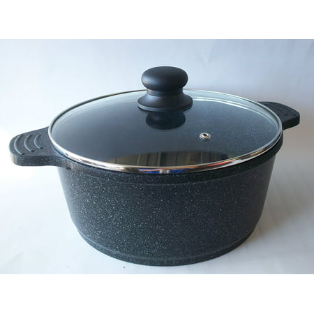 Ceramic Marble Coated Cast Aluminium 6 qt. Stockpot Non Stick Cookware (26 cm diameter)