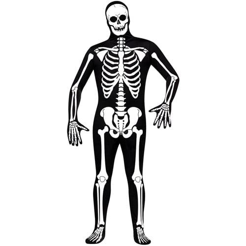 Skeleton Adult Halloween Bodysuit Costume - One Size