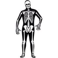 Skeleton Adult Halloween Bodysuit Costume - One Size