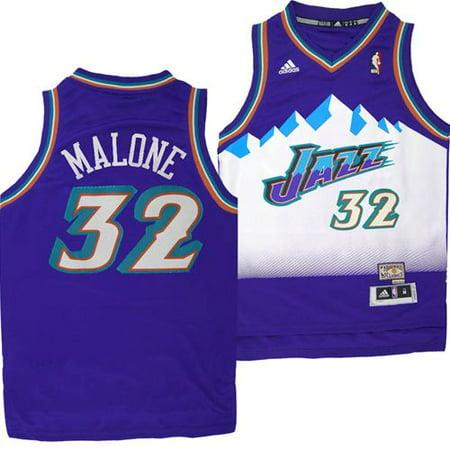 Utah Jazz Adidas NBA Karl Malone #32 Youth Hardwood Classics Swingman Jersey (Purple) by
