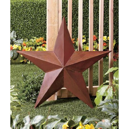 - Large Vintage Rustic Metal Country Barn Star