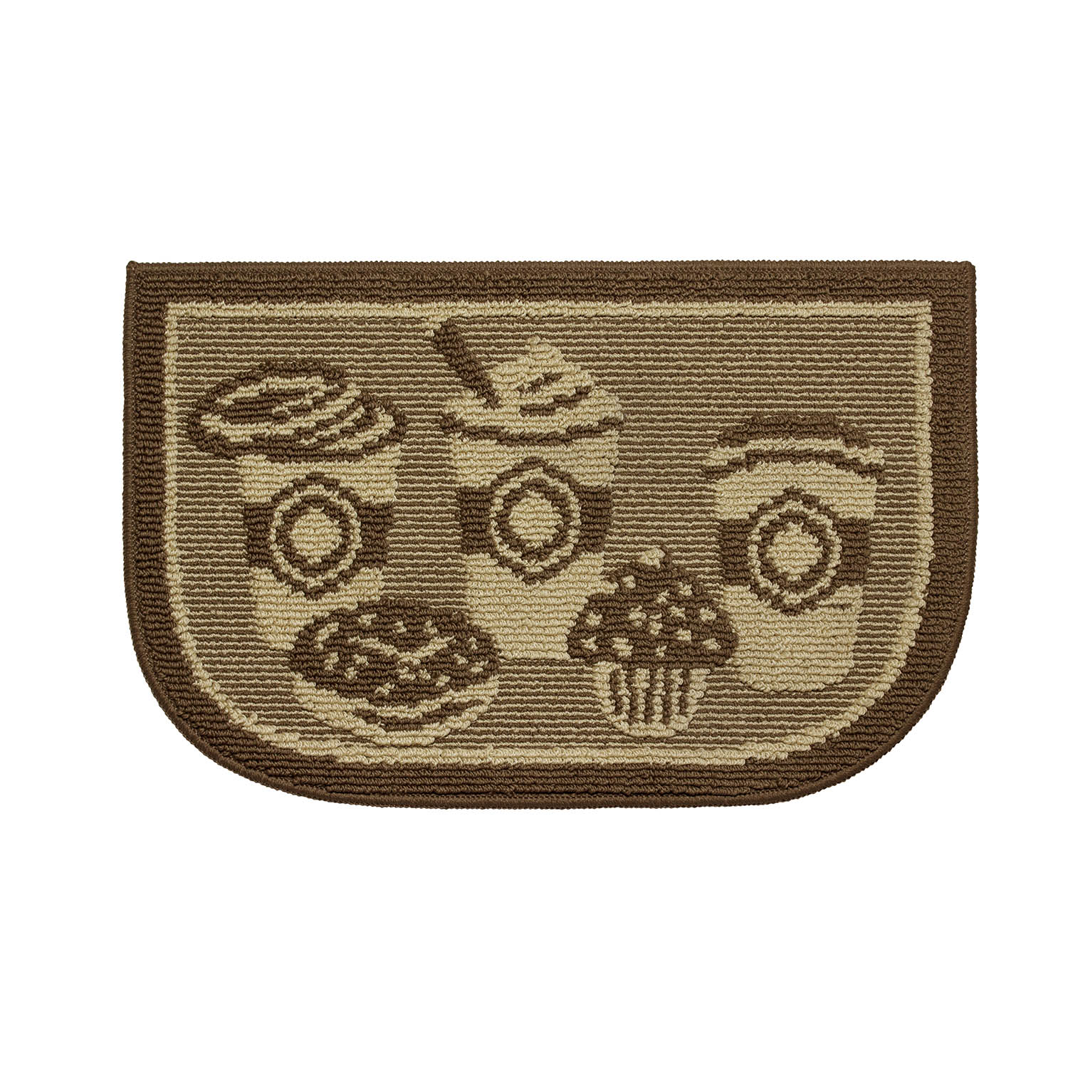 "Structures Textured Loop 18"" x 30"" Wedge-Shaped Kitchen Slice Rug"
