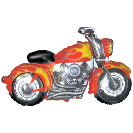 Motorcycle Shaped Mylar Balloon, each - Motorcycle Birthday Party Supplies