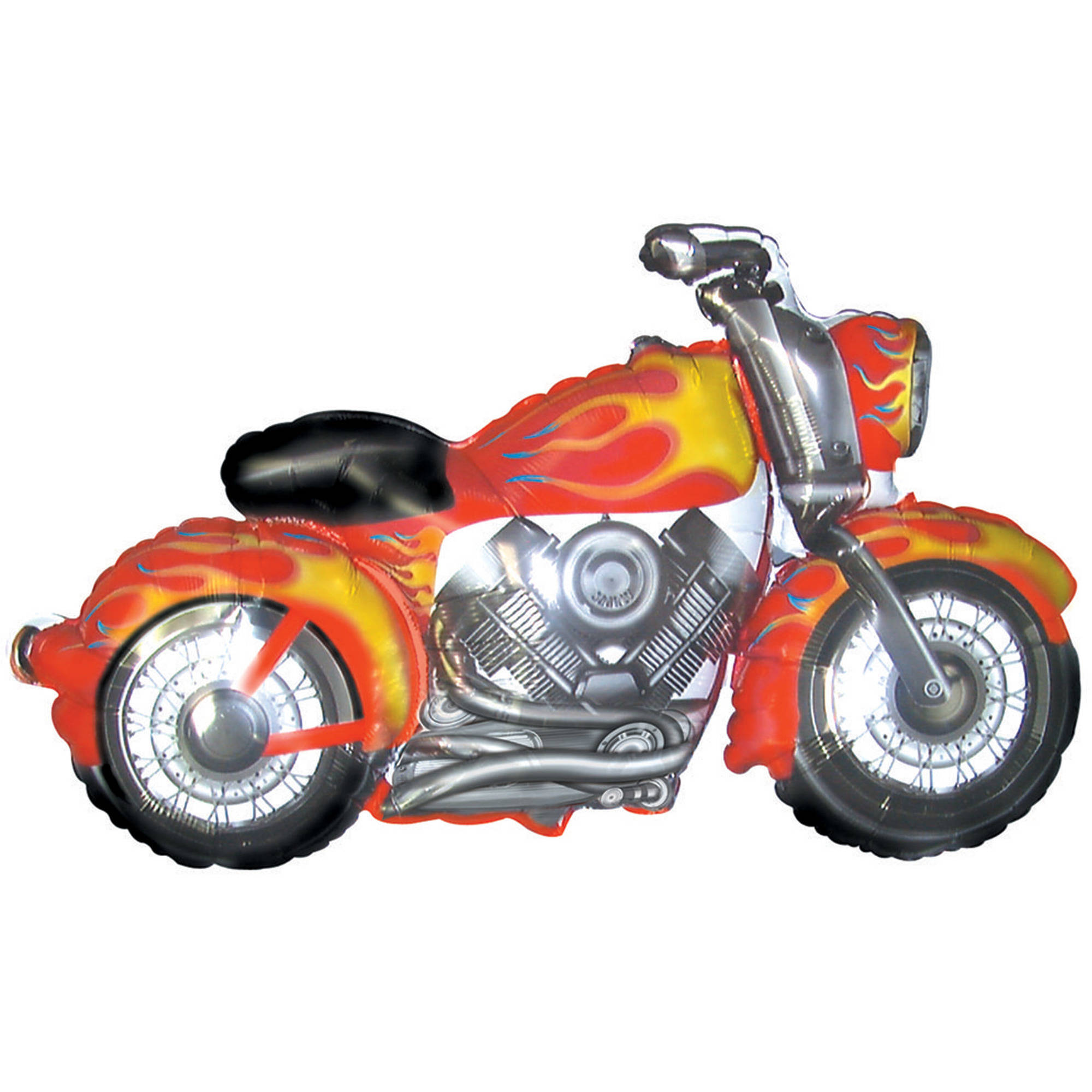 Motorcycle Shaped Mylar Balloon, each
