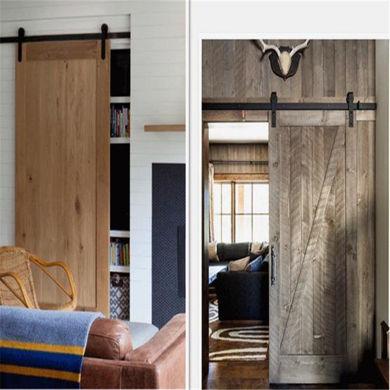Charmant 6 FT Heavy Duty Sliding Barn Door Hardware Antique Barn Wood Sliding Door  Hardware Rustic Roller