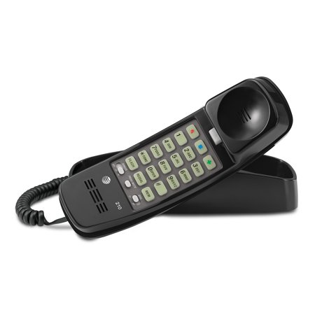 2 Line Corded Integrated Phone (AT&T TML 210M Corded Trimline Phone With Lighted Keypad)