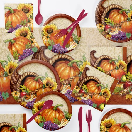 Bountiful Thanksgiving Party Supplies Kit - Thanksgiving Parties