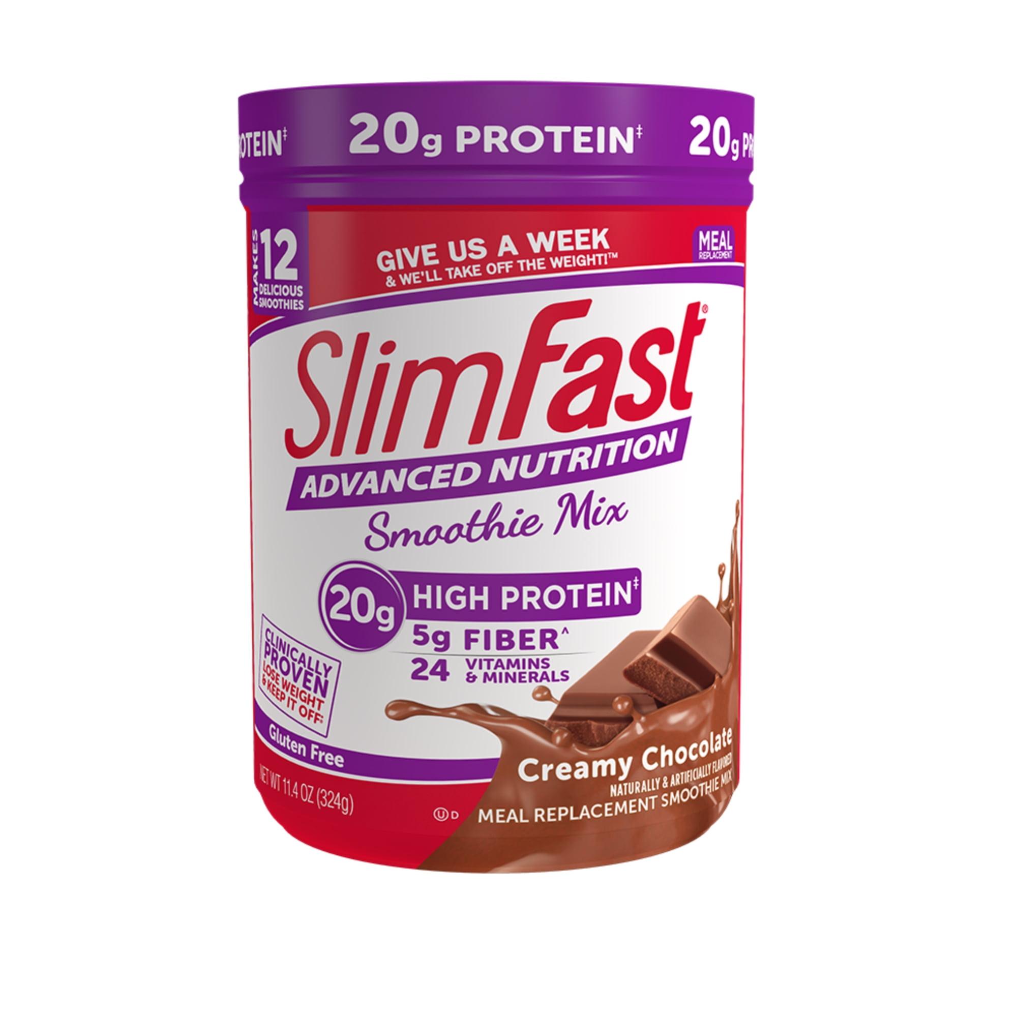 Slimfast Advanced Nutrition High Protein Smoothie Mix Powder Creamy