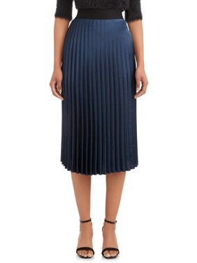 Time and Tru Women's Pleated Skirt