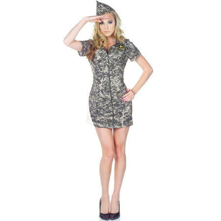 Us Army Costumes (US Army Camo Dress Adult)