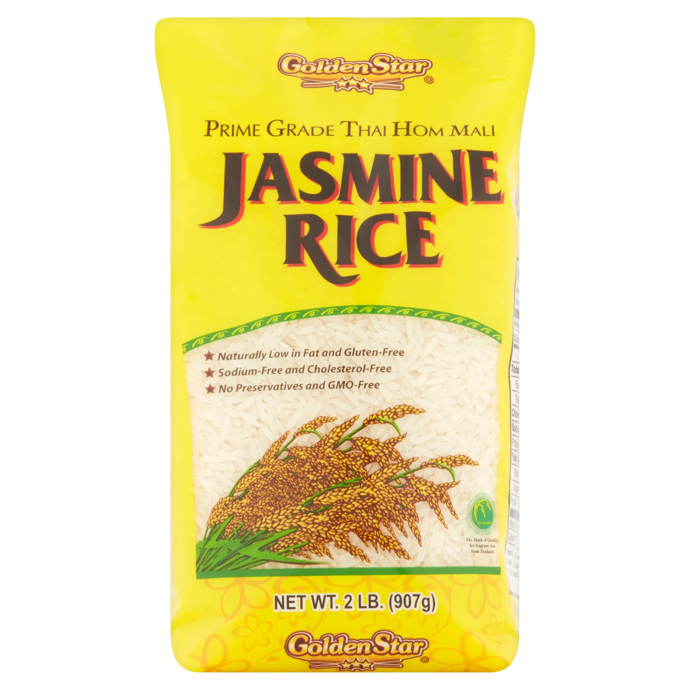 Golden Star Prime Grade Thai Hom Mali Jasmine Rice, 2 Lb