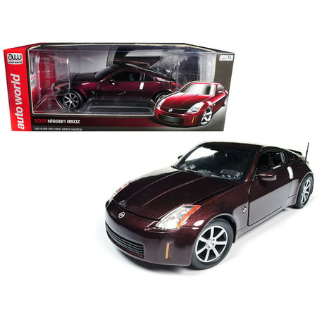 2003 Nissan 350Z Coupe Brickyard Red Metallic Limited Edition to 1002 pcs Worldwide 1/18 Diecast Model Car by Autoworld