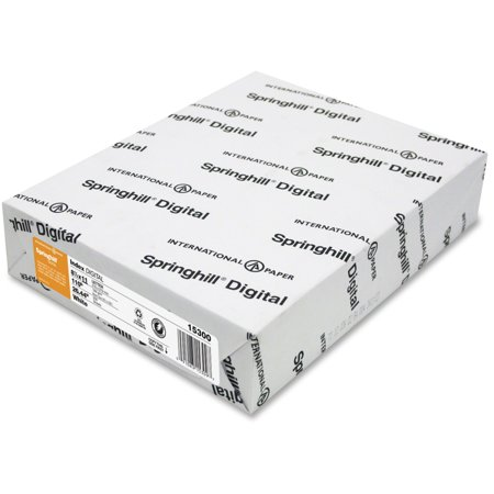 Springhill Digital Index White Card Stock  110 Lb  8 1 2 X 11  250 Sheets Pack
