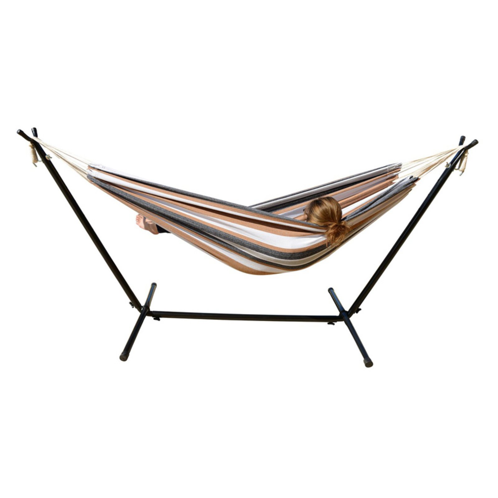 Mano Patio 9.5 ft. Double Hammock with Stand