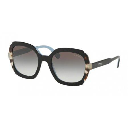 PRADA 0PR 16USF BLACK AZURE/SPOTTED BROWN Woman Sunglasses