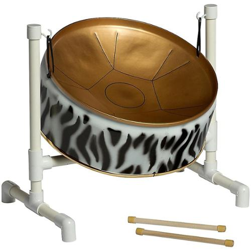 Fancy Pans 16WT Wild Things Pentatonic Steel Drum Zebra Print by Fancy Pans