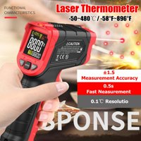 Digital Laser Infrared Thermometer Non-contact Temperature Gun -58°F~896°F LCD Laser Temperature Tester IR Laser Point Gun