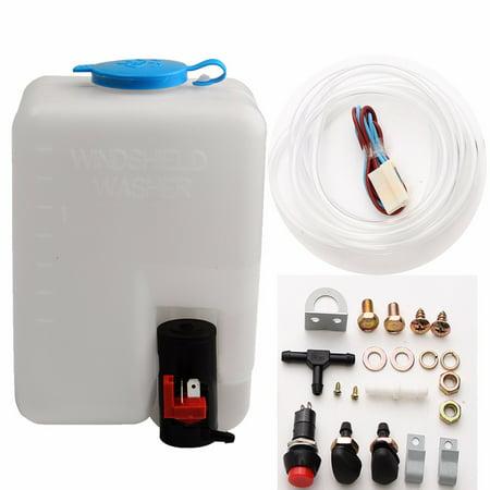 12V 1.8L Universal Car Windshield Washer Reservoir Pump Bottle Jet Kit Switch Jet Pump Switch