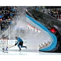Joe Thornton San Jose Sharks Unsigned Out of Shark's Mouth Photograph