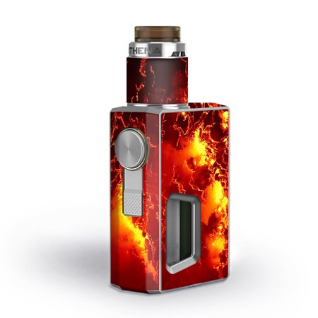 Skin Decal for GeekVape Athena Squonk Vape / Fire Lava liquid flowing ()