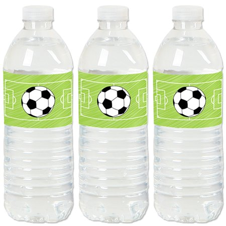 GOAAAL! - Soccer - Party Water Bottle Sticker Labels - Set of 20