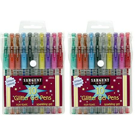Sargent Art 22-1501 10-Count Glitter Gel Pens - 2 Pk](Glitter Gel)