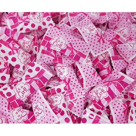 Party Sweets, Buttermints It's a Girl, Individually Wrapped Mints Bulk 4 Pounds Bag - Individually Wrapped Buttermints