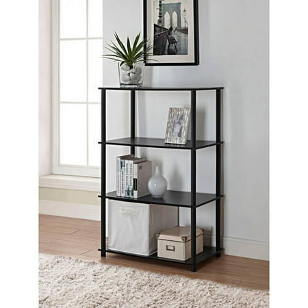 - Mainstays No Tools 6 Cube Standard Storage Bookshelf, Multiple Colors