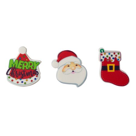 Sweet Décor™ Edible Cake Decorations - Merry Christmas (12 pieces)