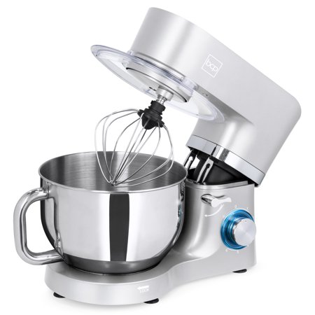 Best Choice Products 6.3qt 660W 6-Speed Multifunctional Tilt-Head Stainless Steel Kitchen Stand Mixer with 3 Mixing Attachments, Scraper Spatula, Splash Guard, (Best Digital Mixer For Church)
