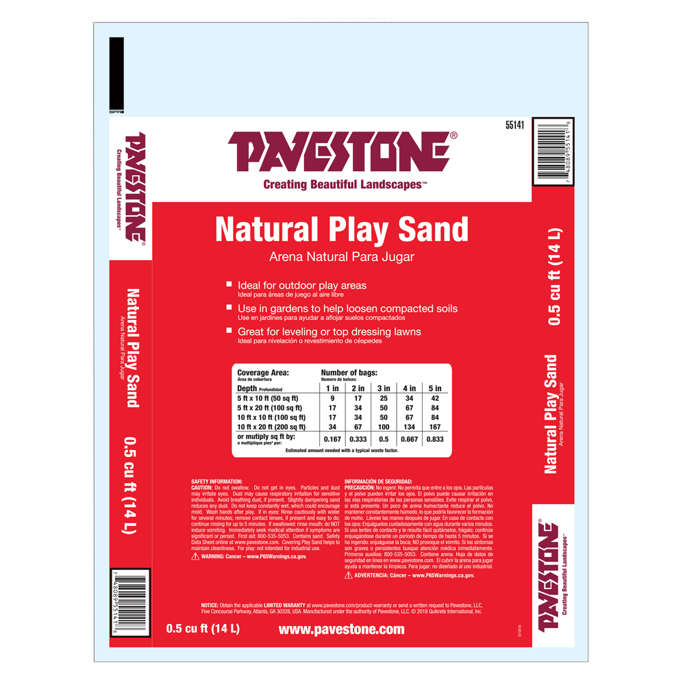 Pavestone 5 Cu Ft Bagged Natural Brown Play Sand Walmart Com Walmart Com