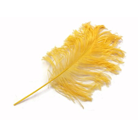 10 Pieces - Golden Yellow Ostrich Tail Feathers - Feather Centerpiece