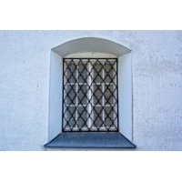 LAMINATED POSTER Metal Grid Old Window Window Grilles Grate Facade Poster Print 24 x 36