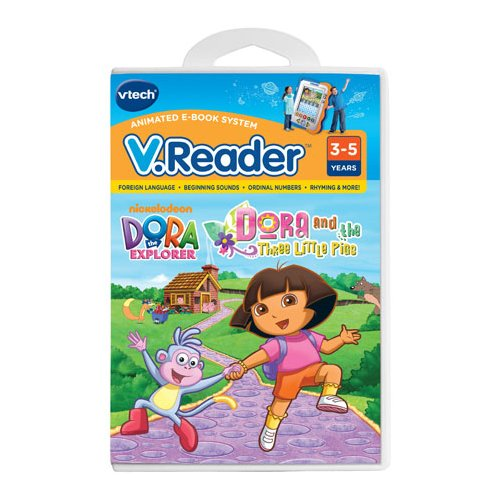 VTech Communications Nickelodeon Dora the Explorer V. Reader Cartridge - Dora and the Three Little Pigs