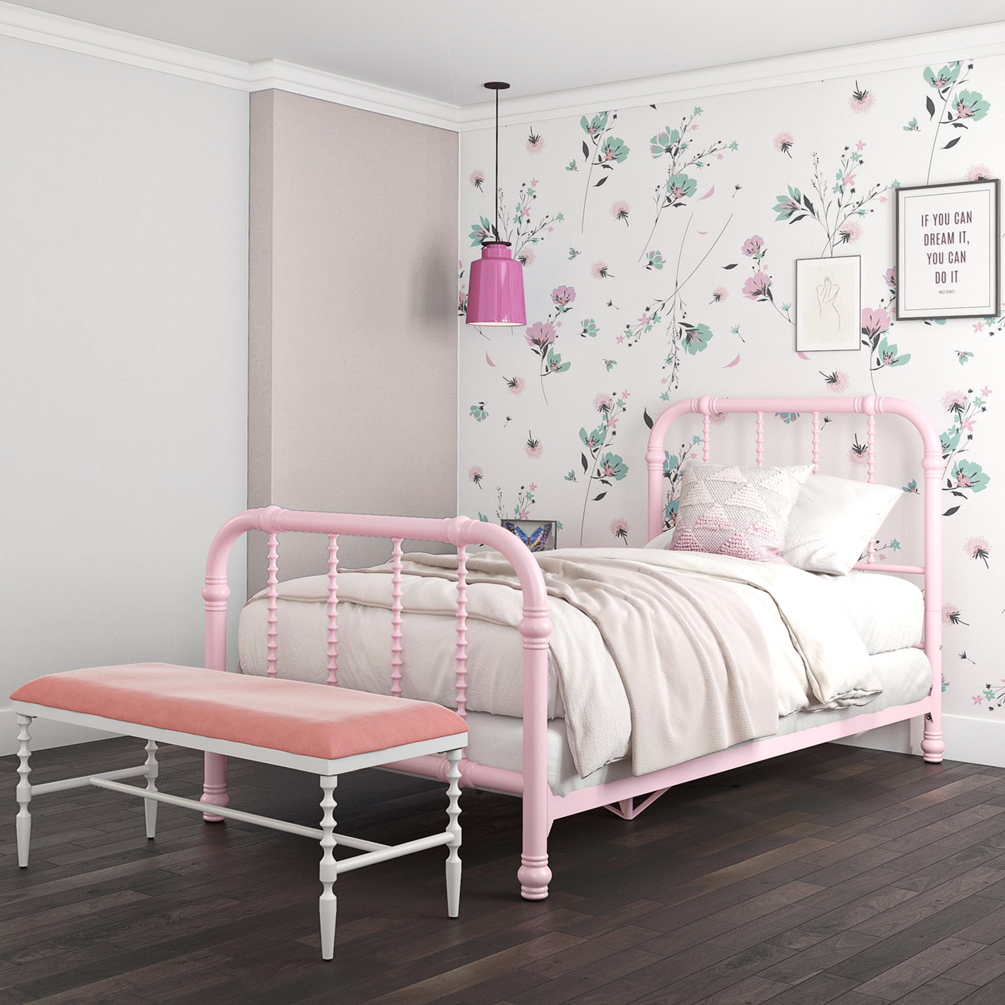 Dhp Jenny Lind Twin Metal Bed Twin Size Pink Walmart Com Walmart Com