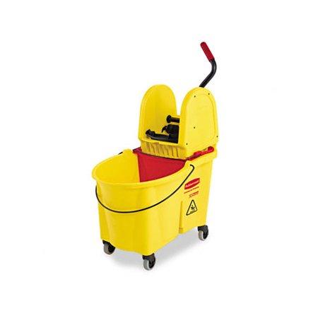 Rubbermaid Commercial Products Commercial Wavebrake 44-qt. Bucket/Downward Pressure Wringer Combination