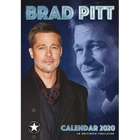 Pitt Calendar 2020 Brad Pitt Celebrity Wall Calendar 2020   Walmart.com