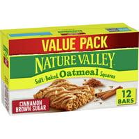 Nature Valley Oatmeal Squares Cinnamon Sugar, 12 ct